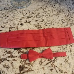 Other - Red cummerbund & bowtie